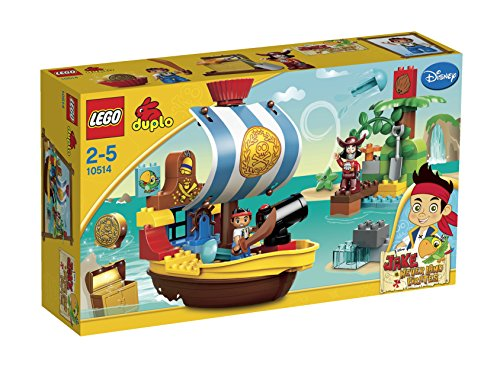 LEGO Duplo Jake's Pirate Ship Bucky with Captain Hook Play Set Ages 2-5 | 10514