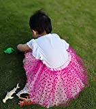 Simplicity Toddler and Girls 4 Layered Pull-On Tulle Tutu Skirt with Glitter/Stamp Foil Designs