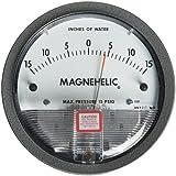 Dwyer Magnehelic Series 2000 Differential Pressure Gauge, Range 15-0-15