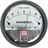 Dwyer Magnehelic Series 2000 Differential Pressure Gauge, Range 15-0-15''WC