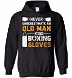Never Underestimate An Old Man With Boxing Gloves Hoodie
