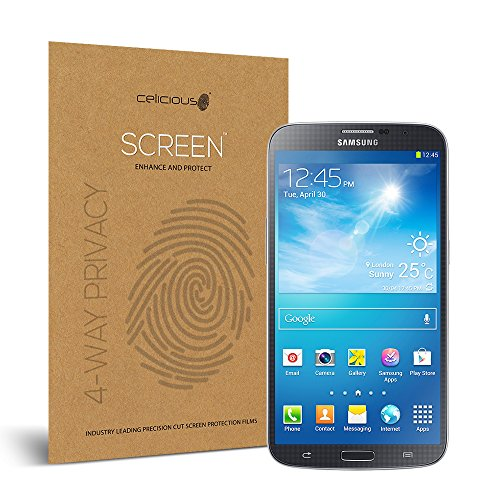 Celicious Privacy Plus 4-Way Anti-Spy Filter Screen Protector Film Compatible with Samsung Galaxy Mega 6.3