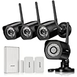 Zmodo Wireless Security Camera System -- 4 720p HD Camaeras, WiFi Extender and 2 Door/Window Sensors