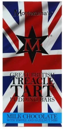 Montezuma Great British Treacle Tart Pudding Chocolate Bar 100g Amazon Co Uk Grocery