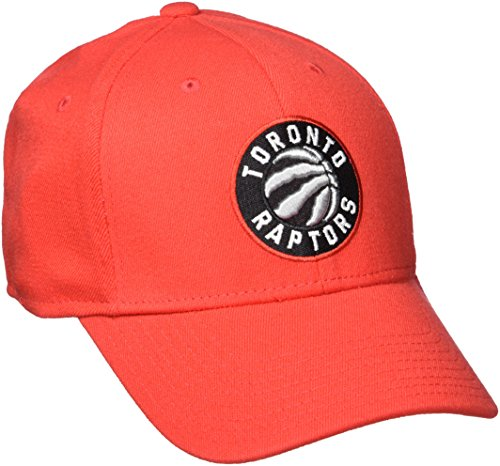 adidas NBA Toronto Raptors Men's Structured Flex Cap, Large/X-Large, Red