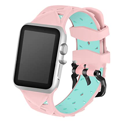 7596421a1e9 QQYL - Correa de repuesto para Apple Watch, accesorios para Apple Watch de  38 mm