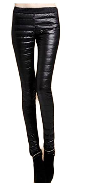 ONTBYB Women Winter Warm Solid Down Pants Long Quilted Trousers at ... : quilted trousers - Adamdwight.com