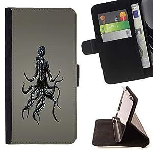 For Samsung Galaxy S6 Active G890A Case , Punky Gasmask- la tarjeta de Crédito Slots PU Funda de cuero Monedero caso cubierta de piel