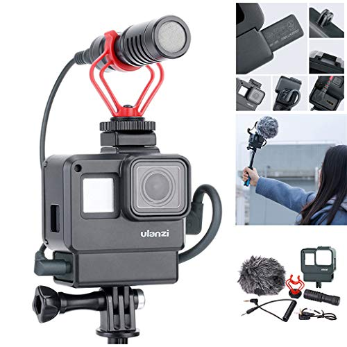 2019 Best Gift!!!Cathy Clara Ulanzi Vlog Housing Case Shell for GoPro 7/6/5 Vlogging Protective Frame 6 in1 Protective Cover