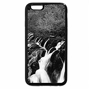 iPhone 6S Case, iPhone 6 Case (Black & White) - wonderful waterfall in sichuan china