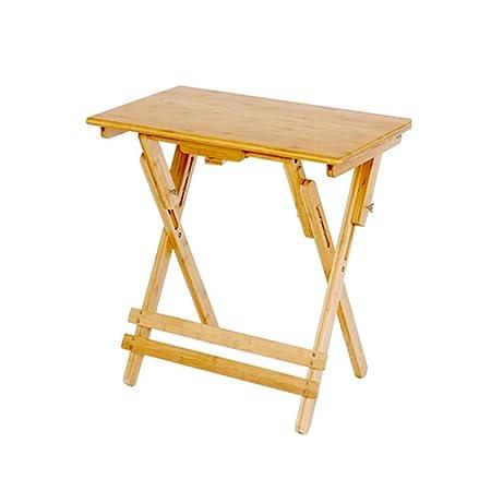GYH ZhuoZi LJHA Mesa De Estudio Plegable, Bambú Los Niños Pueden ...