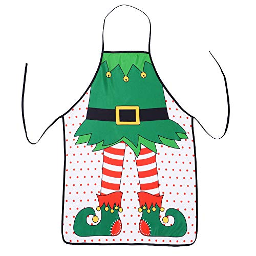 TINGOR Christmas Funny Flirty Apron, Cute Adjustable Kitchen Chef Bib BBQ Cooking Aprons for Adult,Holiday Kitchen Apron Funny Creative Thanksgiving
