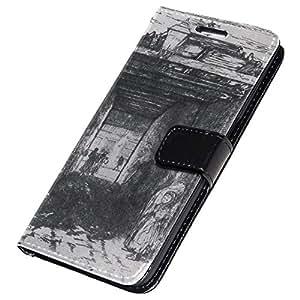 Whistler - The Beggars 2, Negro Funda de Piel Cuero Case Magnética con Función de Soporte Carcasa con Diseño Colorido para Samsung Galaxy S7