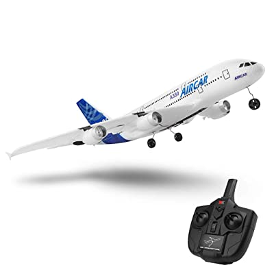 RC EPP ABS Airplane, A120-A380 Airbus 510 mm Wingspan 2.4GHz 3CH Fixed Wing RTF with Mode 2 Remote Controller Scale Aeromodelling Default Fuselage /18.9 X 20 inches: Toys & Games