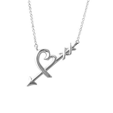 2a140c51b Tiffany Sterling Silver Paloma Picasso Graffiti Loving Heart Arrow Pendant  Necklace Small 41Cm ~ 46Cm 36343206: Amazon.co.uk: Jewellery
