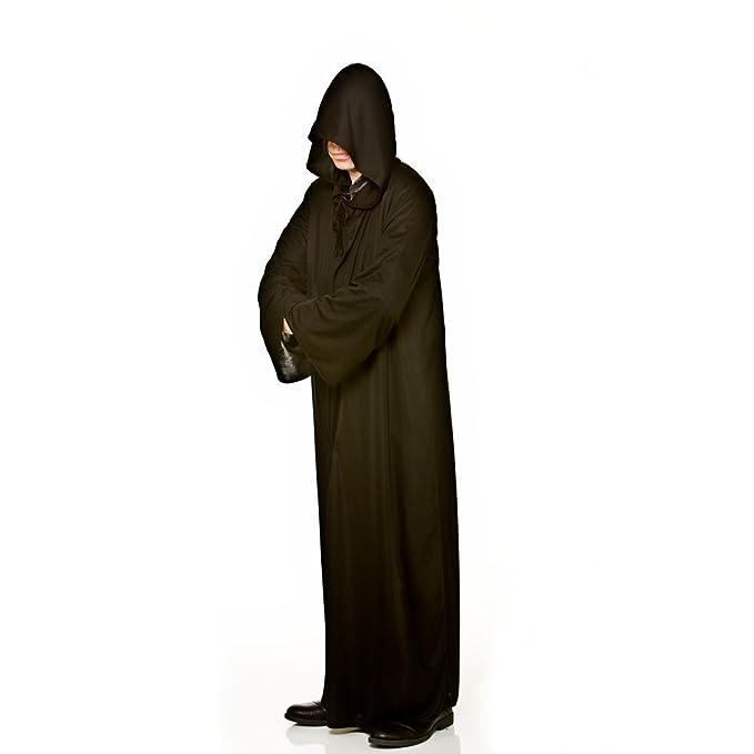 Larga para hombre con capucha Negro del traje de Halloween / de ...