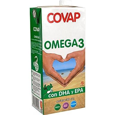 Covap Omega 3 Con Dha Y Epa. Enriquecida Con Omega 3. Acido Fólico Y Vitaminas Brick 1 Litro.: Amazon.es: Alimentación y bebidas