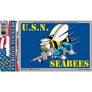 EagleEmblems DC0153 Sticker-USN,Seabees (3x4'') from EagleEmblems