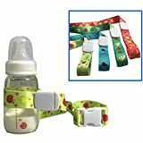 Jsentai Baby Sippy Cup Holder Adjustable Strap, Soothie Pacifier Holders Toys Leash For Stroller Random Color Pack of 4