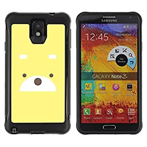 LASTONE PHONE CASE / Suave Silicona Caso Carcasa de Caucho Funda para Samsung Note 3 / Cute Bear