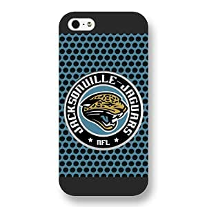 Onelee Customized NFL Series Case for iPhone 5 5S, NFL Team Jacksonville Jaguars Logo iPhone 5 5S Case, Only Fit for Apple iPhone 5 5S (Black Frosted Shell)