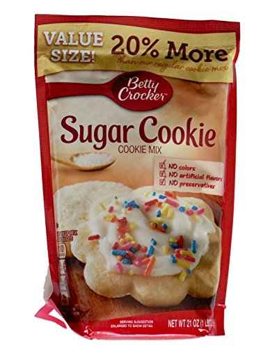 Betty Crocker Sugar Cookie Mix (Betty Crocker Sugar Cookie Mix 21 oz Value Size 20% more (2 Packages))