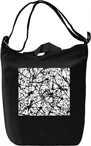 Abstract Black and White Pattern Borsa Giornaliera Canvas Canvas Day Bag| 100% Premium Cotton Canvas| DTG Printing|