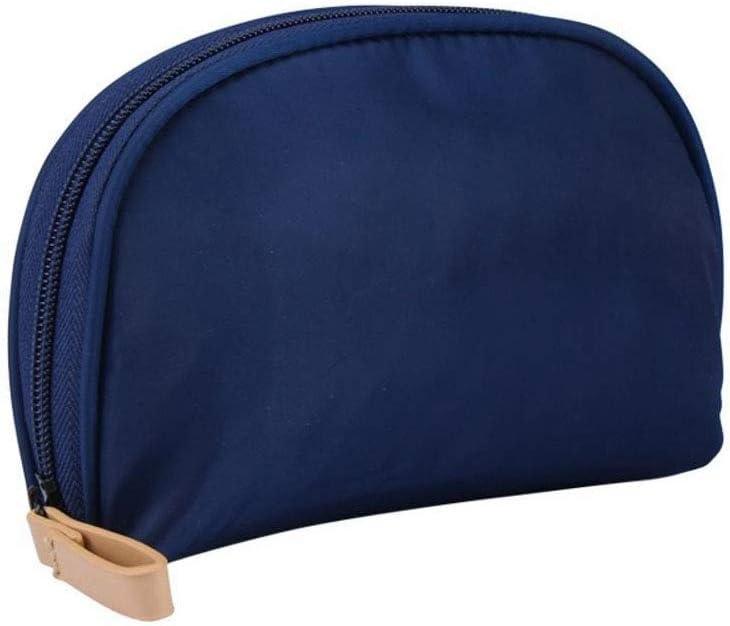 Meilandeng Bolsa de Maquillaje Estuche portátil de Viaje para cosméticos Mano de cosméticos de Nylon Tela Cruzada en Forma de Abanico con semicírculo Almacenamiento Bolsa de cosméticos 11 * 5 * 15 cm: Amazon.es: Hogar