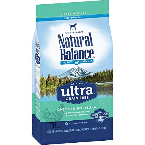 Natural Balance Puppy Formula Dry Dog Food, Original Ultra Whole Body Health, Chicken, Brown Rice & Duck Meal Formula,...