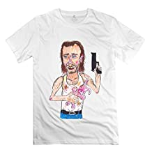 LFL-Men's Con Air Nicolas Cage Short Sleeve Tees Size M White