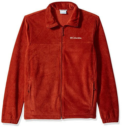 - Columbia Men's Cascades Explorer Full Zip Fleece Jacket, Rusty Orange, Large