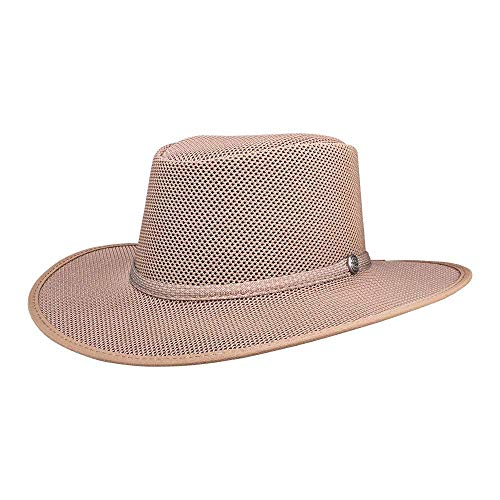 SOLAIR HATS Cabana by American Hat Makers Mesh Leather Hat - Light Solair 3