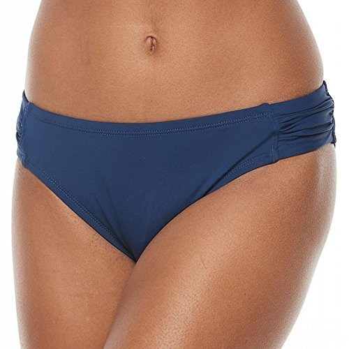 Apt. 9 Ruched Side Tab Swim Bikini Bottom for Women (Small, Royal) from Apt 9