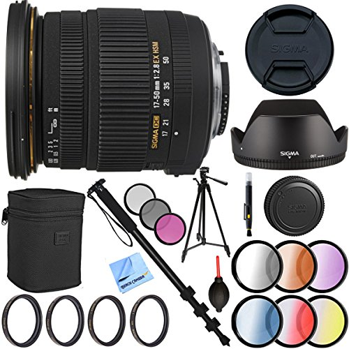 Sigma 17-50mm f/2.8 f2.8 EX DC OS HSM Lens Black for Nikon - 8