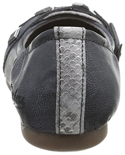 Dockers by Gerli 34JE211-620220 - Bailarinas de material sintético para mujer gris - Grau (dunkelgrau 220)