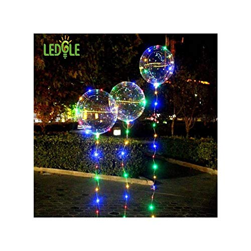 (Moonnight Store LEDGLE Clear Air Balloon Light Fairy String Lights Creative Bobo Balloon for Parties and Wedding, 4 Color Modes, Battery Powered)