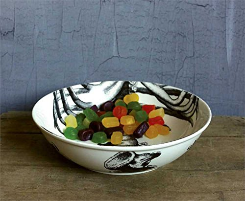 Black & White Skeleton Image Stoneware Bowl - Set Of 2 by Heart of America