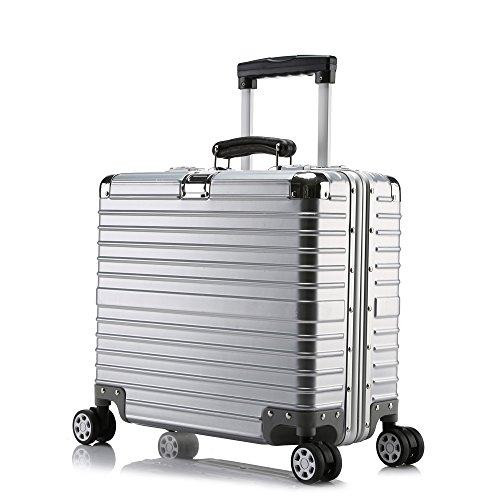 クロース(Kroeus)キャリーケース スーツケース TSAロック搭載 旅行 出張 大容量 復古主義 8輪 超軽量 機内持込可 B01N4HQSU2 SS|シルバー/機内持ち型 シルバー/機内持ち型 SS