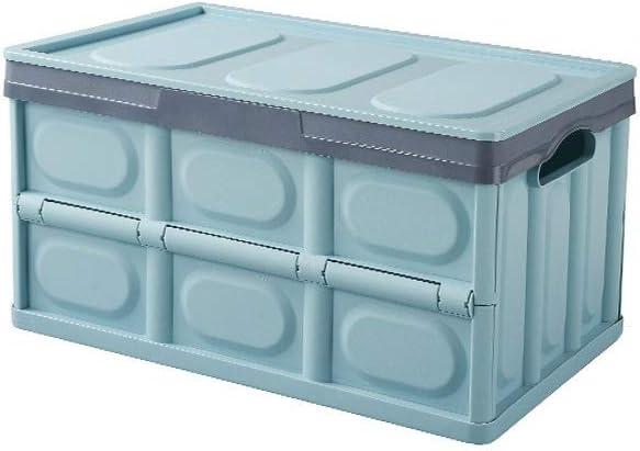 Caja de viaje for viajes al aire libre, caja de almacenamiento plegable de plástico, caja de recepción de vehículos multifuncional, con cubierta Cajas de almacenamiento de alta capacidad, cajas de rec: Amazon.es: