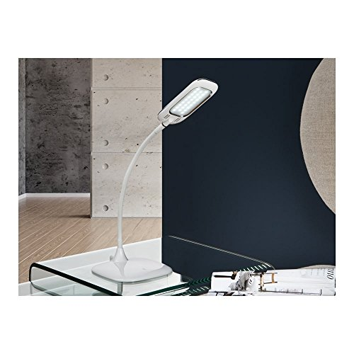 Schuller Spain 514223I4L Modern White Adjustable Table Lamp 1 Light Living Room, bed room, Study, Bedroom LED, White Adjustable neck desk lamp, Mobile device charger | ideas4lighting by Schuller
