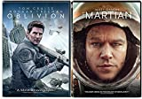 Space DVD double Feature Sci-Fi Oblivion Tom Cruise & The Martian Matt Damon Movie Set