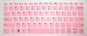 "BingoBuy US Layout Keyboard Protector Skin Cover for Lenovo Yoga 720-15IKB, 520s 14'', Flex 5 14'' & 15'', 120s 14'', 320s 14'', 330 330s 14'', 530s 15"" (Pink)"