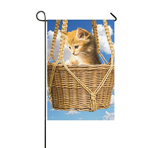 Home Decorative Outdoor Double Sided Animals Cat Pet Young C