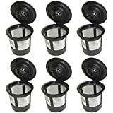 Blendin 6 x Single Coffee Pod Filters Compatible Keurig K Cup Coffee Maker System, Reusable