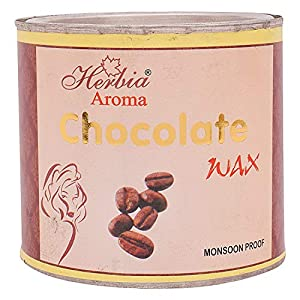 Herbia Aroma Wax with 60 Waxing Strips- 600 ml Pack of 2 (Chocolate)