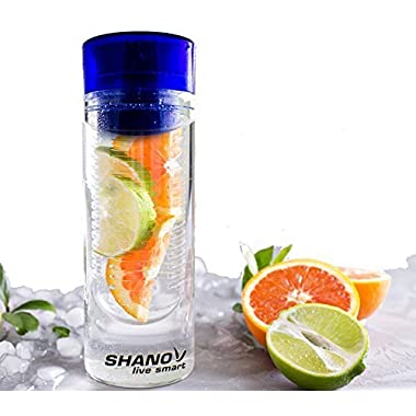 Fruit Infused Water Bottle - Fitness Infuser – Our Top Rated Cool Water Bottles - Great Birthday Gifts for Her - Infusion Water Bottle Enhances Fruit Water Flavor - (Blue)