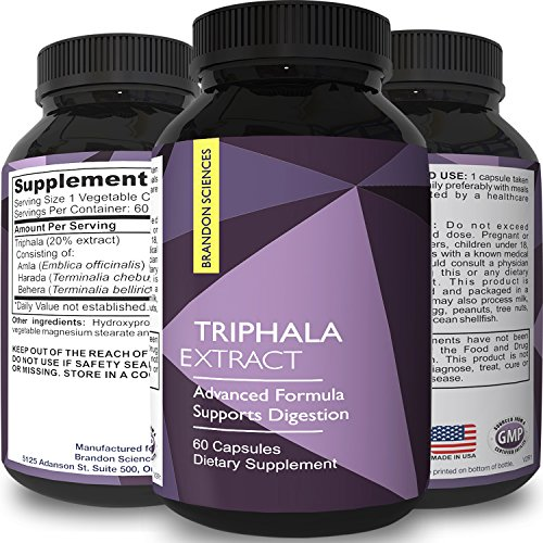 Triphala Capsules Colon Cleanse & Detox Natural Herbal Laxative Supplement for Constipation Relief & Healthy Digestion - Ayurvedic Medicine for Weight Loss & Energy - Holistic Remedy for Better Health