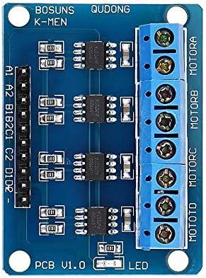 RongAi Chen インテリジェント自動車用L9110S 4チャンネルのDCステッピングモータドライバボードHブリッジL9110モジュール
