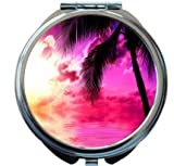 Rikki Knight Sunset on Beach Design Round Compact Mirror