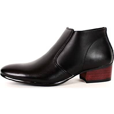 Amazon.com | New Mens Dress Leather Shoes Formal Casual Black ...
